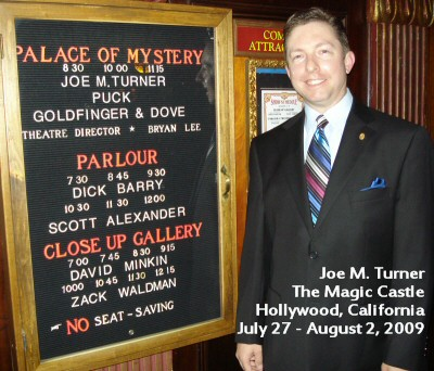 JMT outside the Palace of Mystery at the Magic Castle
