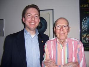 Joe with Martin Gardner