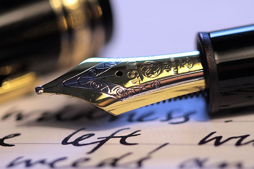 Good paper for writing with a fountain pen