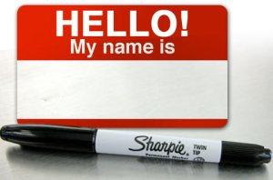 Hello My Name Is nametag